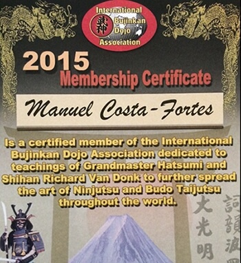 Zelfverdediging in Zaandam membership certificate